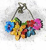 Náhrdelníky - flowers 9 náhrdelník - 5490441_