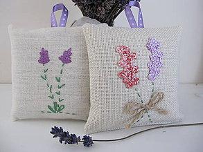 Úžitkový textil - Levanduľové vrecúška - 5490474_