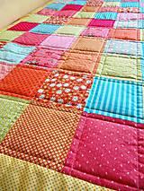 Úžitkový textil - Patchworková deka Alica - 5490792_