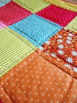 Úžitkový textil - Patchworková deka Alica - 5490796_