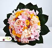 Kytice pre nevestu - Svadobná kytica zo stabilizovaných kvetov - 5490867_