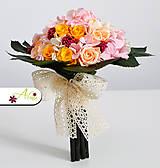 Kytice pre nevestu - Svadobná kytica zo stabilizovaných kvetov - 5490871_