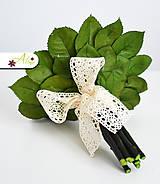 Kytice pre nevestu - Svadobná kytica zo stabilizovaných kvetov - 5490874_