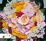 Kytice pre nevestu - Svadobná kytica zo stabilizovaných kvetov - 5490877_