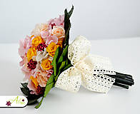 Kytice pre nevestu - Svadobná kytica zo stabilizovaných kvetov - 5490878_