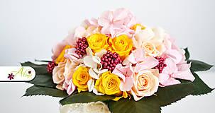 Kytice pre nevestu - Svadobná kytica zo stabilizovaných kvetov - 5490880_