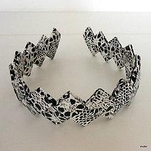 Ozdoby do vlasov - čierno biela čelenka - 5489624_