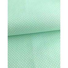 Textil - Mentolové bodky - vzor 255 - 5492861_