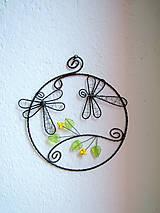 Dekorácie - vážky v kruhu  10cm - 5493611_