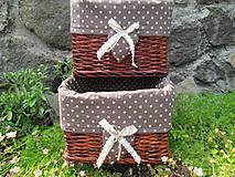 Košíky - Bodkovaná čokoláda - 5492405_
