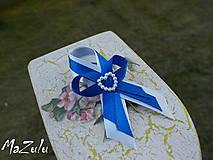 Pierka - svadobné pierko v modrom - 5494810_