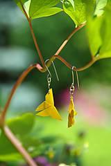 Náušnice - Motýlci žlutí - 5494515_