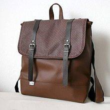 Batohy - Aktovkový batoh (hnedo-bodkovaný) - 5492964_