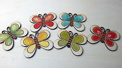 Magnetky - motýlik - 5491987_