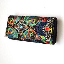 Peňaženky - peněženka Red Luminia 19cm - 5494209_