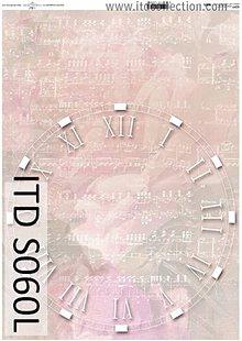 Papier - dekupáž papier soft hodiny na notách - 5494543_