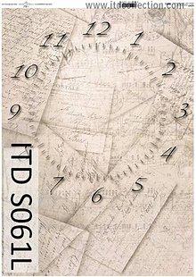 Papier - dekupáž papier soft hodiny - 5494563_