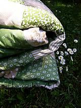 Úžitkový textil - Zelené tóny - prehoz :) - 5492042_