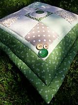 Úžitkový textil - Zelené tóny - vankúše - 5492087_