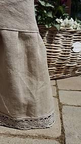 Úžitkový textil - Okrúhly ľanový obrus s volánom - 5494799_