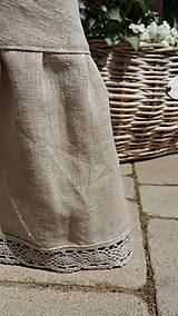 Úžitkový textil - Okrúhly ľanový obrus s volánom - 5494801_