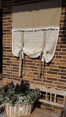 Úžitkový textil - Ľanová záclonka Simply Nature s volánom - 5494834_