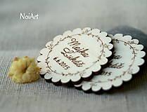 Svadobné magnetky Venček