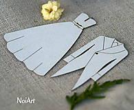 Papier - Výrez z lepenky Svadobný odev - 5497066_