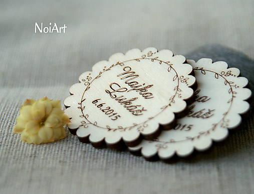 Darčeky pre svadobčanov - Svadobné magnetky Venček - 5496824  7ea53d6758e