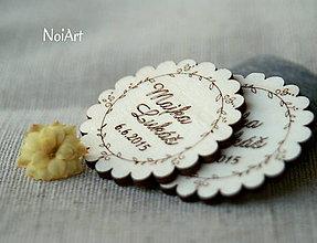 Darčeky pre svadobčanov - Svadobné magnetky Venček - 5496824_