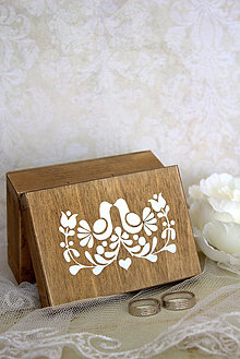 Prstene - Krabička na prstienky Folk - 5496996_