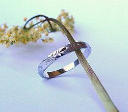 Prstene - s kvietkom... - 5497010_