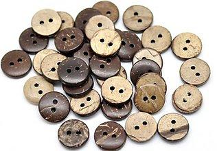 Galantéria - Kokosový gombík 13mm - 5498133_