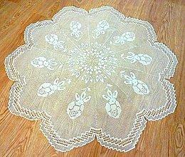 Úžitkový textil - Veľká filetová dečka, svetlá béžová - 5496944_