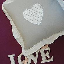 Úžitkový textil - Heart Polka Dots ... polštář SLEVA z 15,5 - 5499805_