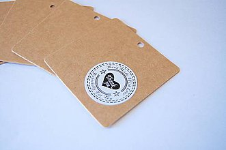 Papier - Visačky 10 ks - 5498888_