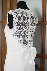 """Šaty - Púzdrové šaty s chrbátom z krajky v rôznych farbách """"vločka"""" - 5499496_"""