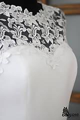 """Šaty - Púzdrové šaty s chrbátom z krajky v rôznych farbách """"vločka"""" - 5499497_"""