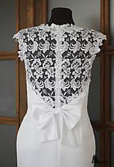 """Šaty - Púzdrové šaty s chrbátom z krajky v rôznych farbách """"vločka"""" - 5499499_"""