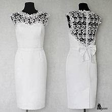 """Šaty - Púzdrové šaty s chrbátom z krajky v rôznych farbách """"vločka"""" - 5499498_"""