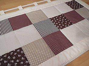 Úžitkový textil - zástena na posteľ - dlhšia časť - béžovo - čokoládová - 5502064_