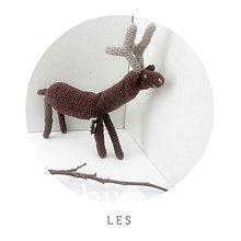 Hračky - jelenček hnedý - 5500981_
