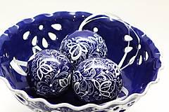 Dekorácie - Kobaltové dekoračné gule - 5500554_