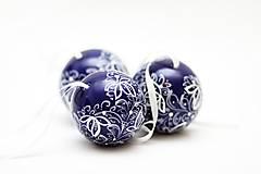 Dekorácie - Kobaltové dekoračné gule - 5500556_