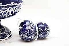 Dekorácie - Kobaltové dekoračné gule - 5500557_