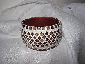 Náramky - drevený náramok s mozaikou - 5501544_