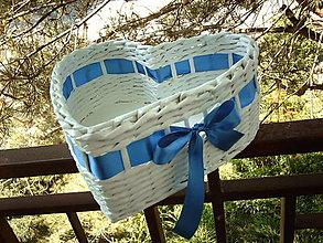 Košíky - Srdiečko- modrá je dobrá..:-) - 5501228_
