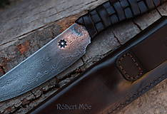 - Keltský damaškový nôž s púzdrom na opasok - 5501552_