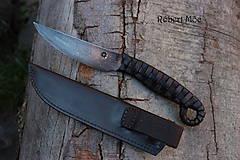 Nože - Keltský damaškový nôž s púzdrom na opasok - 5501553_