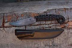 Nože - Keltský damaškový nôž s púzdrom na opasok - 5501556_